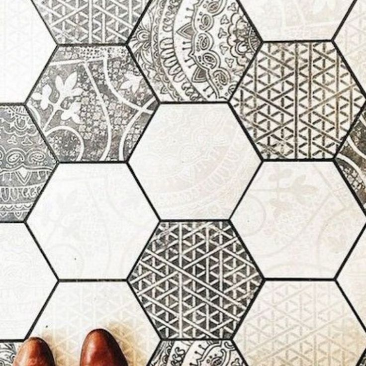 Alchemia Mix 2 (again shows the size of the hex, its not a small format mosaic) Teranova Tiles