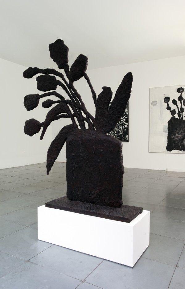 Black plant by Donald Baechler