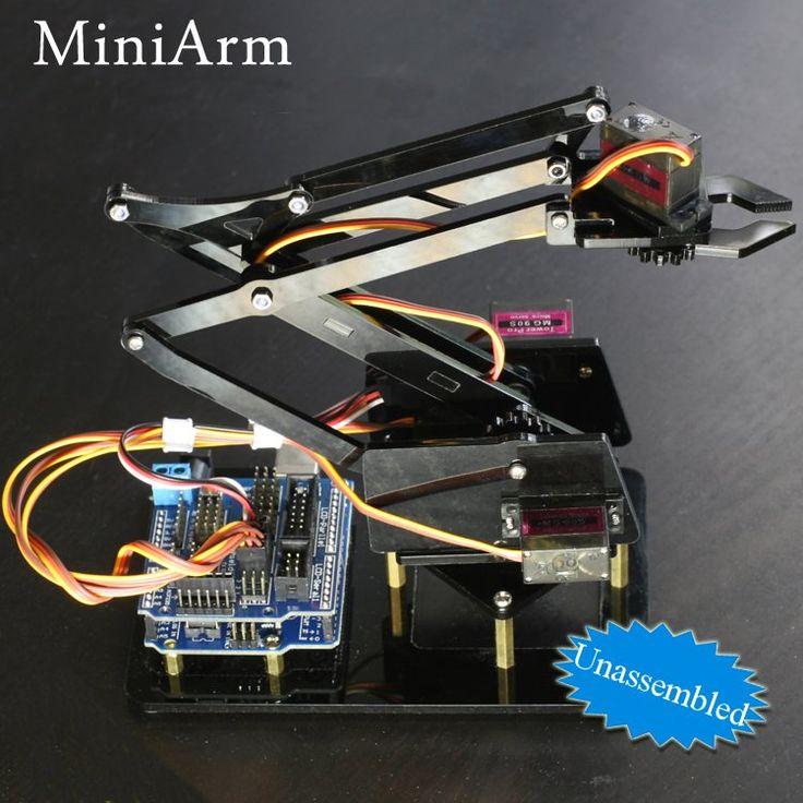 Robot miniarm bras de robot manipulateur diy 4DOF avec Arduino UNO R3