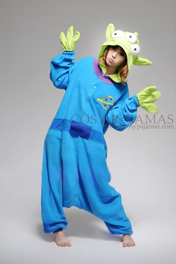 Three Eyed Monster Adult Onesie ...hilarious(I sincerely hope whoever wrote that caption before mine was kidding...that is one of the aliens from Toy Story you uncultured swine!)