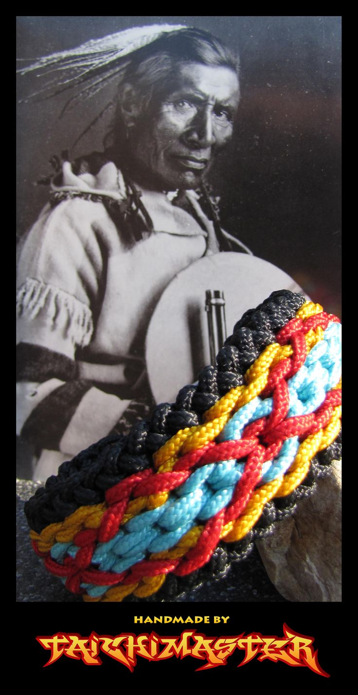 Native American Wide Sanctified Paracord Bracelet-2