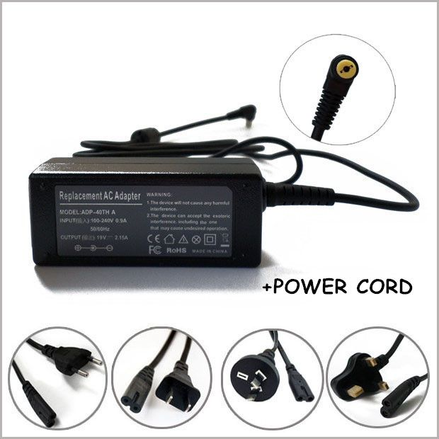 "Laptop Power Supply 19V 2.15A 40W AC Charger Adapter For Acer Aspire One 8.9""  10.1"" New Carregador Para Notebook"