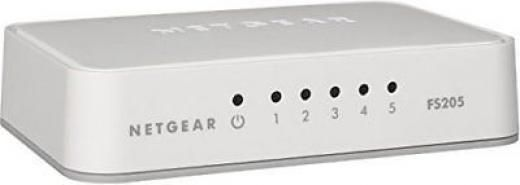 Netgear 5 Port 10/100mb Ethernet Switch Fast Desktop Network Led Fs205-100pas 10/100 Free & Easy To Use Usa No Tax 30 Days