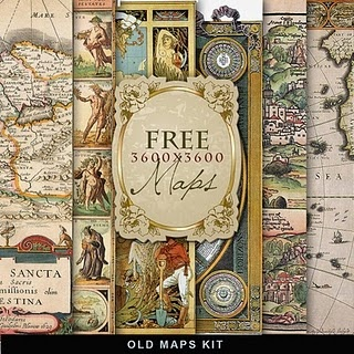 Free Old Maps Digi Kit ~ great for heritage page backgrounds, tags and embellishments. There are many more backgrounds for free on her site.