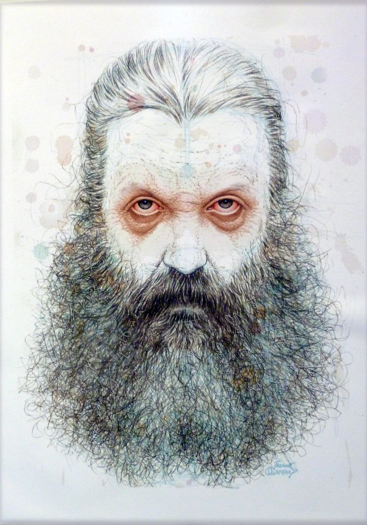 Drawing of Alan Moore by Frank Quitely