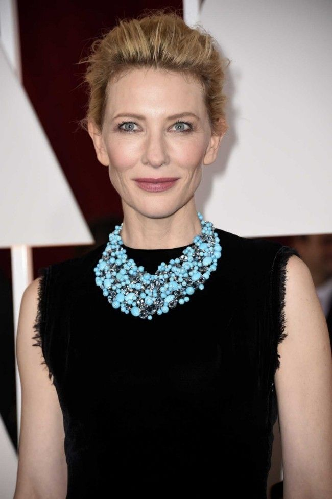 Million dollar baubles: the most expensive jewellery at the 2015 Oscars  : Cate Blanchett The stunning turquoise, aquamarine and diamond bib necklace is so pricey, its maker, Tiffany and Co. will only reveal the price upon request. With that many stones, it's sure to have a lot of zeros in its price tag.
