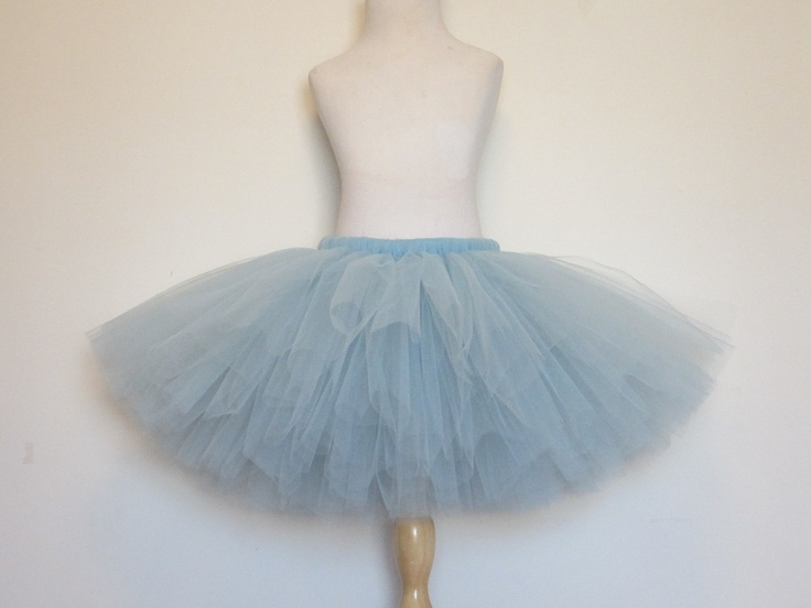 Adult Tutu Skirt Cinderella Blue Teen Ballet Dance Dorthy Costume Williamburg Bridesmaid Tutu by American Blossoms. $45.00, via Etsy.