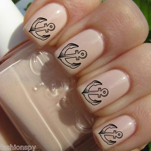 Anchor Stencil   Anchor Stencil Decal Designs for Nails Water Transfers Celebrity Style ...