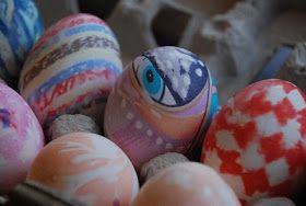 Homemade Serenity: WIP - Easter Egg Silk Dyeing Tutorial