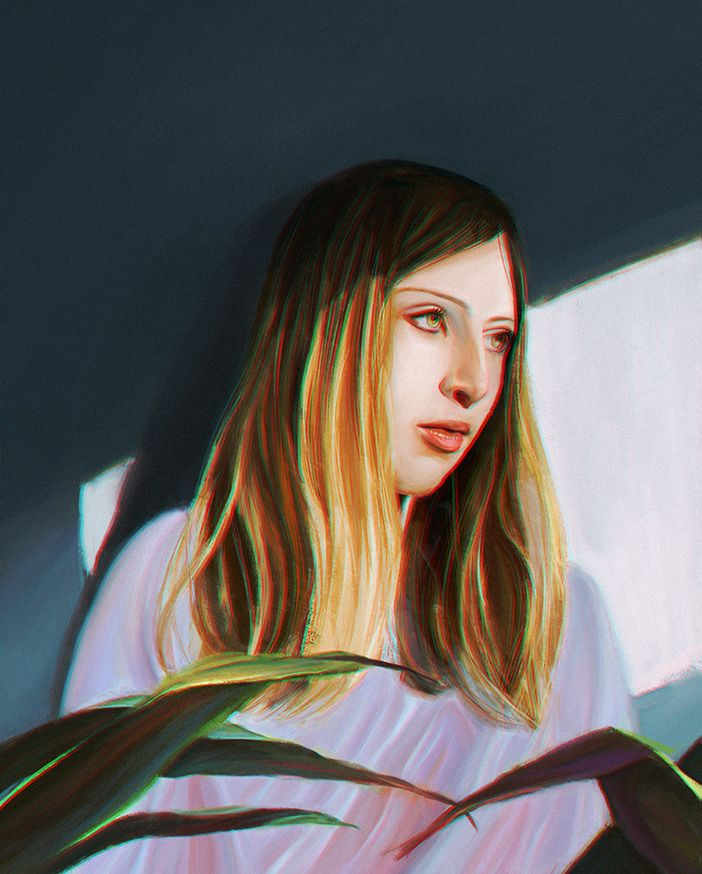 Miguel Devia, Helen, painted with love, between academic procrastination.