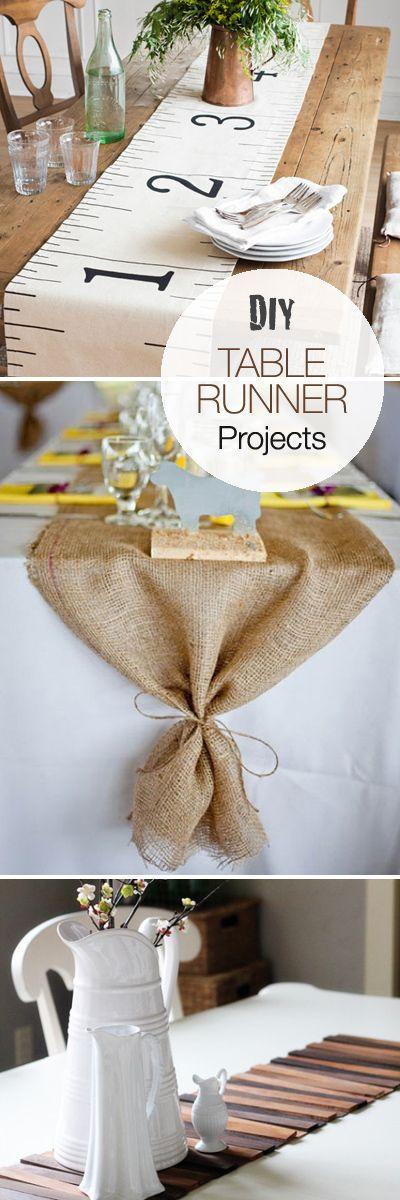 DIY Table Runner Projects • Ideas & Tutorials!