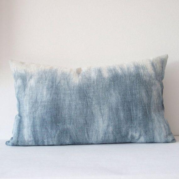 Kissen Leinen Batik Muster Marmoroptik by MikanuHandmade on Etsy