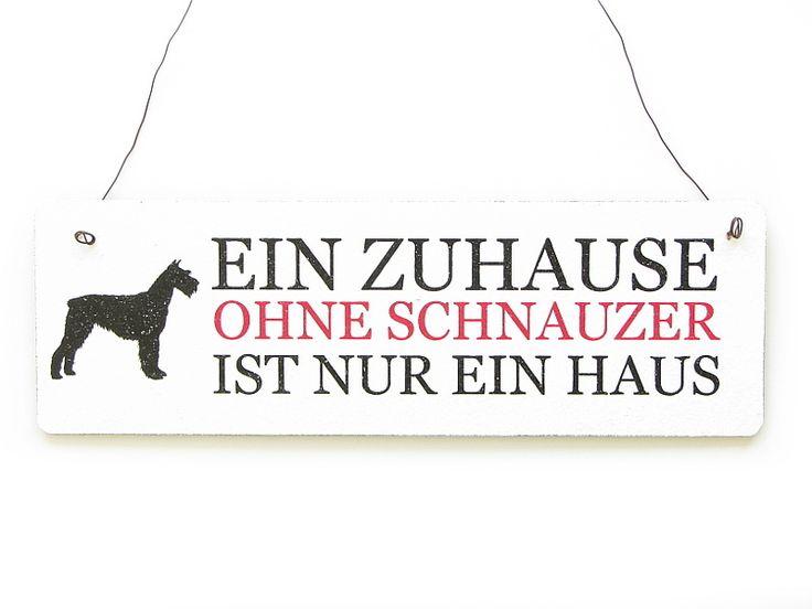 Vintage Schild EIN ZUHAUSE OHNE SCHNAUZER Hund  von Interluxe via dawanda.com