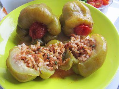 Mijn mixed kitchen: Etli biber dolması (Turkse gevulde mini-paprika's)