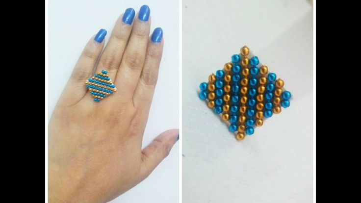 How to Make Canvas Paper Finger Ring. Tutorial