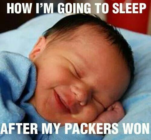 How I sleep after a win