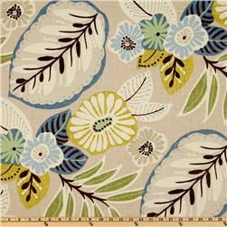 Richloom Tracey Beachcomber  Item Number: UL-439: Tracey Beachcomb, Floral Patterns, Living Rooms, Fabrics Decoration, Richloom Tracey, Floral Upholstery, Blue Green, Windows Treatments, Upholstery Fabrics