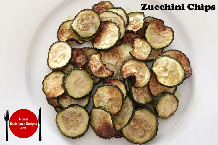 Zucchini Chips, admittedly they're highly addictive. At least this version doesn't take too long to make | Insulin Resistance Diet Recipes