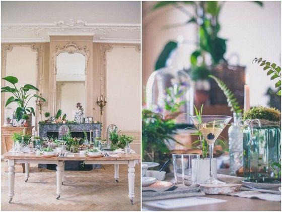 Fotocredit: FOTOZEE (http://fotozee.nl/) - Pinterested @ http://wedspiration.com. #nature #wedding #stylingshoot #ferns