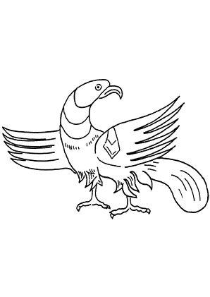 Ausmalbild Adler 1 zum kostenlosen Ausdrucken und Ausmalen