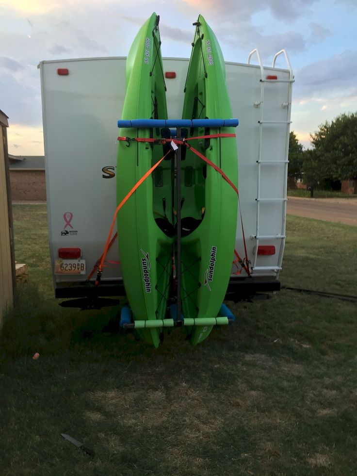 how to store a kayak vertically
