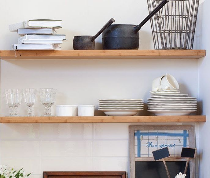 Kaboodle Kitchen - City Meets Country, Available at Bunnings #nothingtowaste #provincial #bamboosehlving #DIY