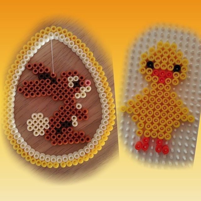 Easter decorations hama beads by jolly_golden