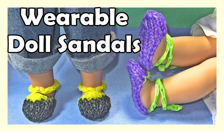 Rainbow Loom Charms Doll Sandals (Wearable, AG Doll, DIY Mommy)