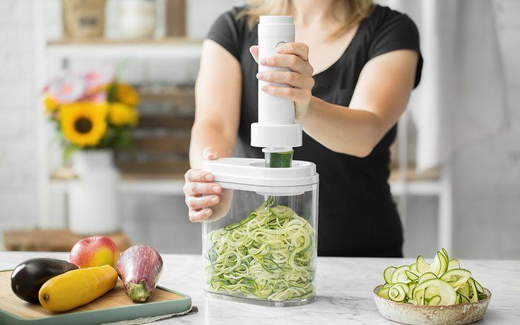 Kitchen Crew verwandelt jedes Gemüse in knackige Spiralen.