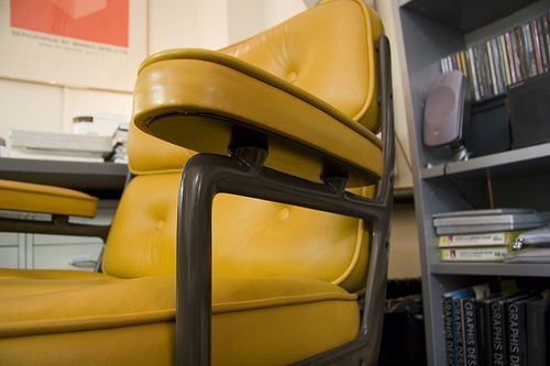 Eames executive chair in flawless yellow leather
