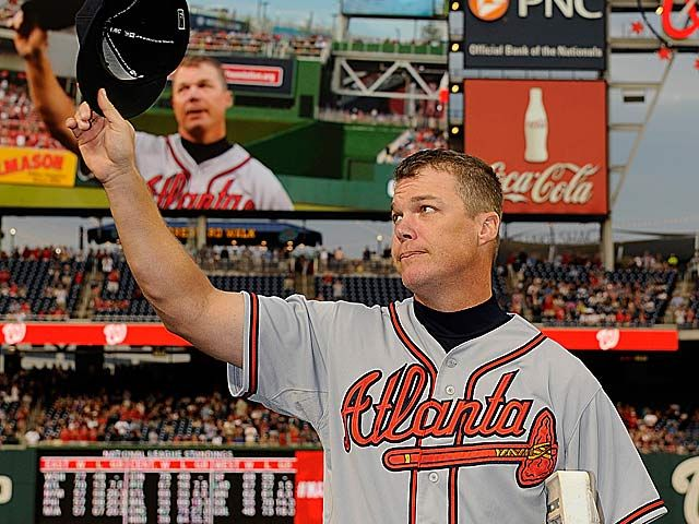Retiring Chipper Jones has received nothing but love during his final go-around. (Getty Images)