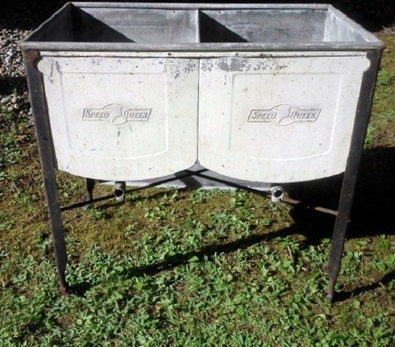 Double Wash Tub : Vintage Double Wash Tub Speed Queen by FingerLakesFinds on Etsy ...