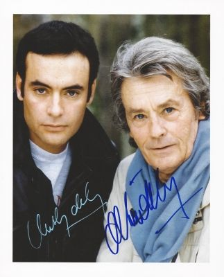 *-* Alain & Anthony DELON Autograph