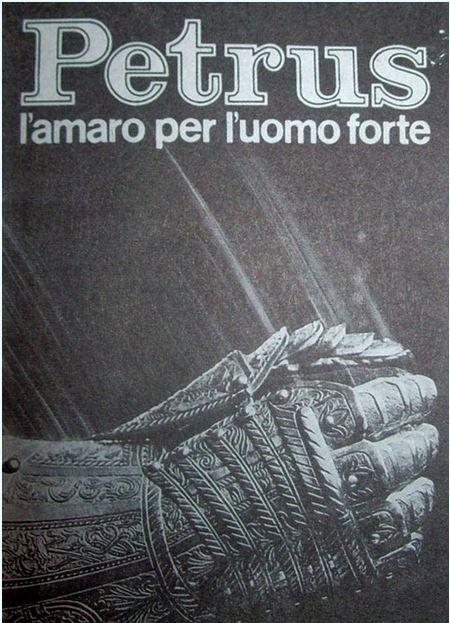 PETRUS.. L'AMARISSIMO CHE FA BENISSIMO! PUBBLICITA' ANNI 70-80
