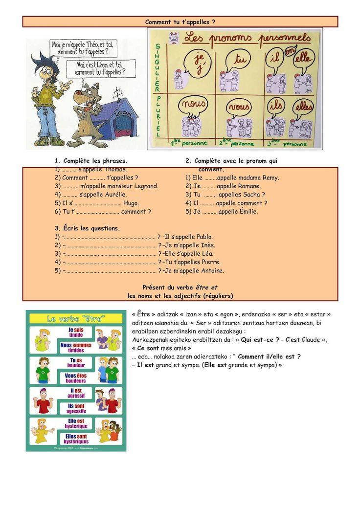 Matériel complémentaire pour travailler tous les contenus du 1er cours Français langue étrangère seconde