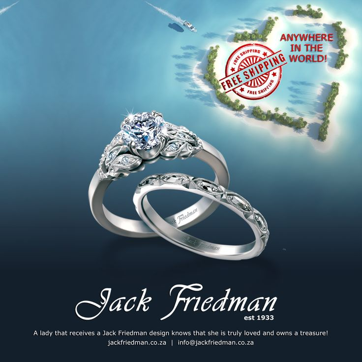 Jack Friedman will ship and insure your jewellery anywhere in the world for free.