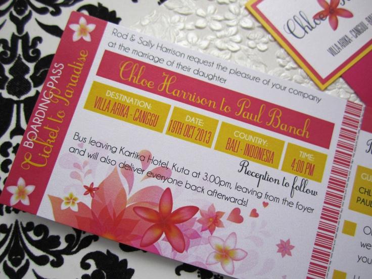 #destinationwedding #weddinginvitation #baliwedding #bali #frangipani   by Island Princess Designs  www.islandprincessdesigns.com.au