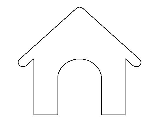 Dog House Pattern Use The Printable Outline For Crafts
