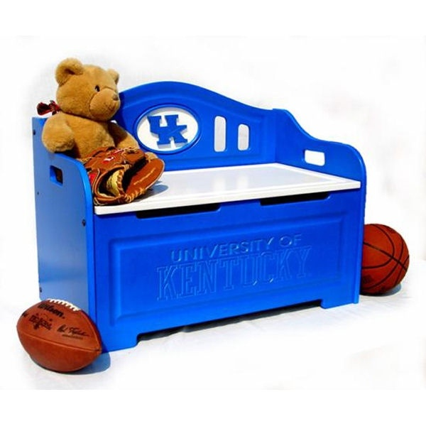 Kentucky Wildcats Painted Storage Bench