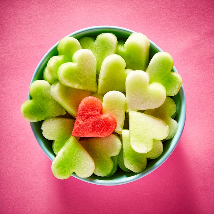 You're one in a melon <3 #watermelon #honeydew #heart #ValentinesDay