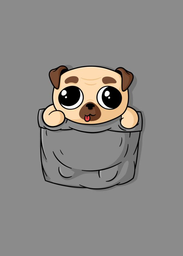Cute Pocket Pug Animals Poster Print Metal Posters In 2020