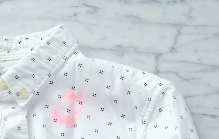 The Surprising Way to Remove Lipstick Stains from Clothes via @PureWow