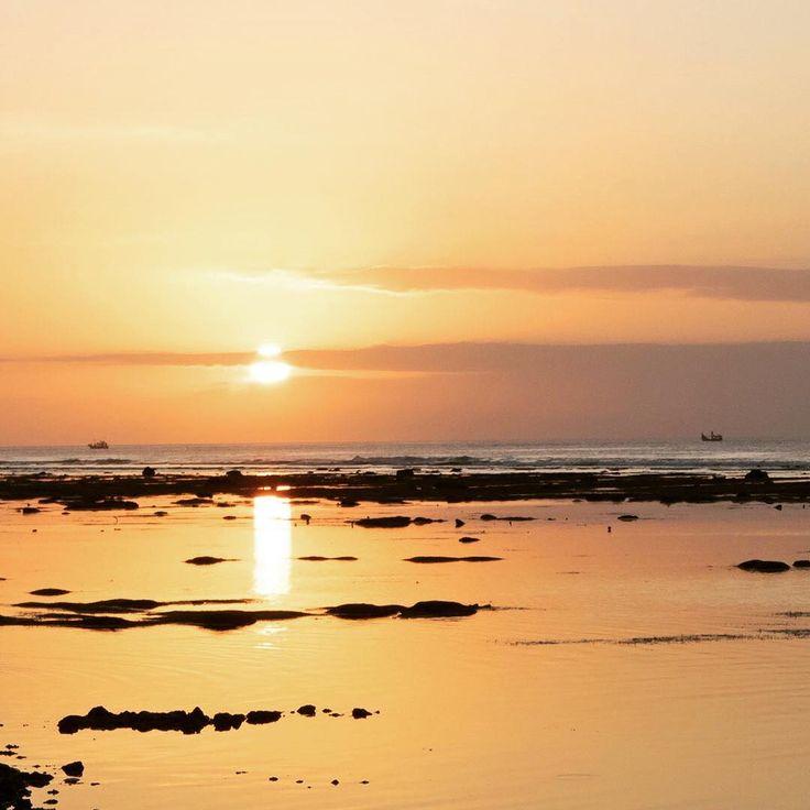 Bali sunset. Tomas Beach, Bukit Peninsula, Bali. Beautiful Indonesia.