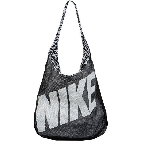 Nike Shoulder Bag ($29) ❤ liked on Polyvore featuring bags, handbags, shoulder bags, black, shoulder handbags, hobo shoulder bag, nike, print handbags and nike purse
