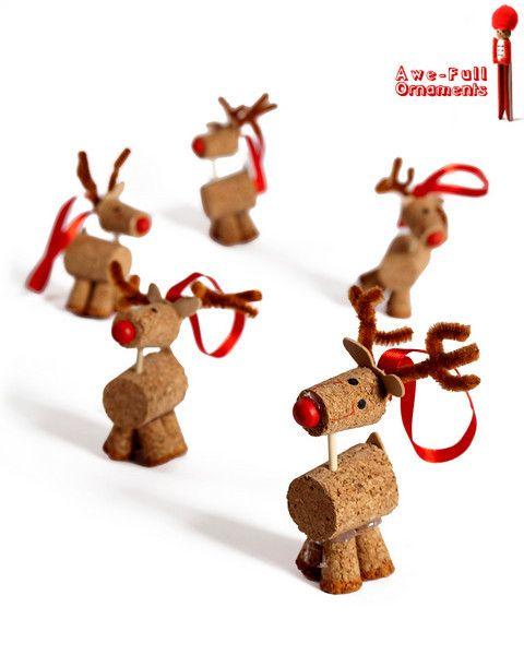 cork reindeer NOW these are adorable! More Wine, please!
