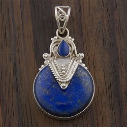 @Overstock - Add to your beauty with this lovely lapis lazuli pendant Designed and handcrafted by talented artisans from India The perfect addition to your jewelry collectionhttp://www.overstock.com/Worldstock-Fair-Trade/Sterling-Silver-Lapis-Lazuli-Pendant-India/3183816/product.html?CID=214117 $55.99