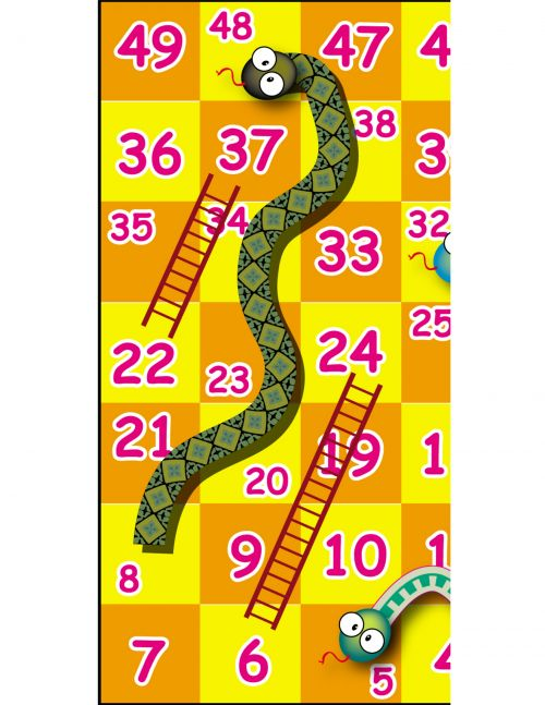 how to make snake and ladder