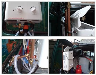 DIY Hot Water Systems for Water Fed Poles