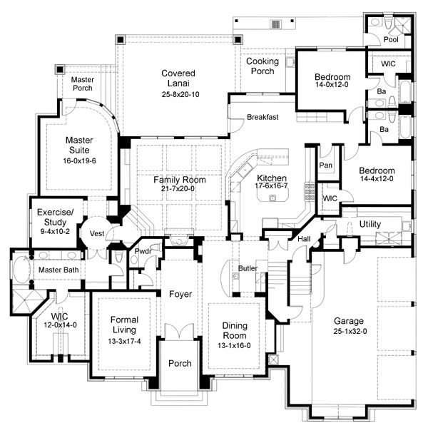 17 best images about 5 bedroom house plans on pinterest 5 bedroom mediterranean house plans