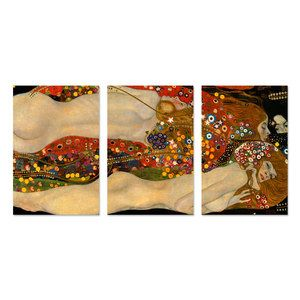 Sea Serpents V Triptych, $118, now featured on Fab.